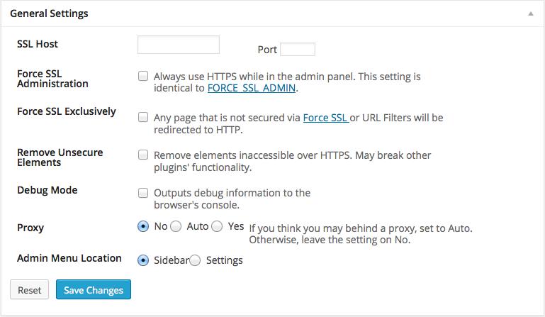 WordPress HTTPS設定画面